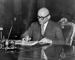 Robert Schuman, ministro degli esteri francese