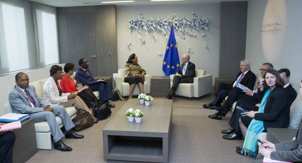 Van Rompuy con Pres. CAR