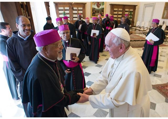 La visita ad limina dei vescovi dell'Eritrea