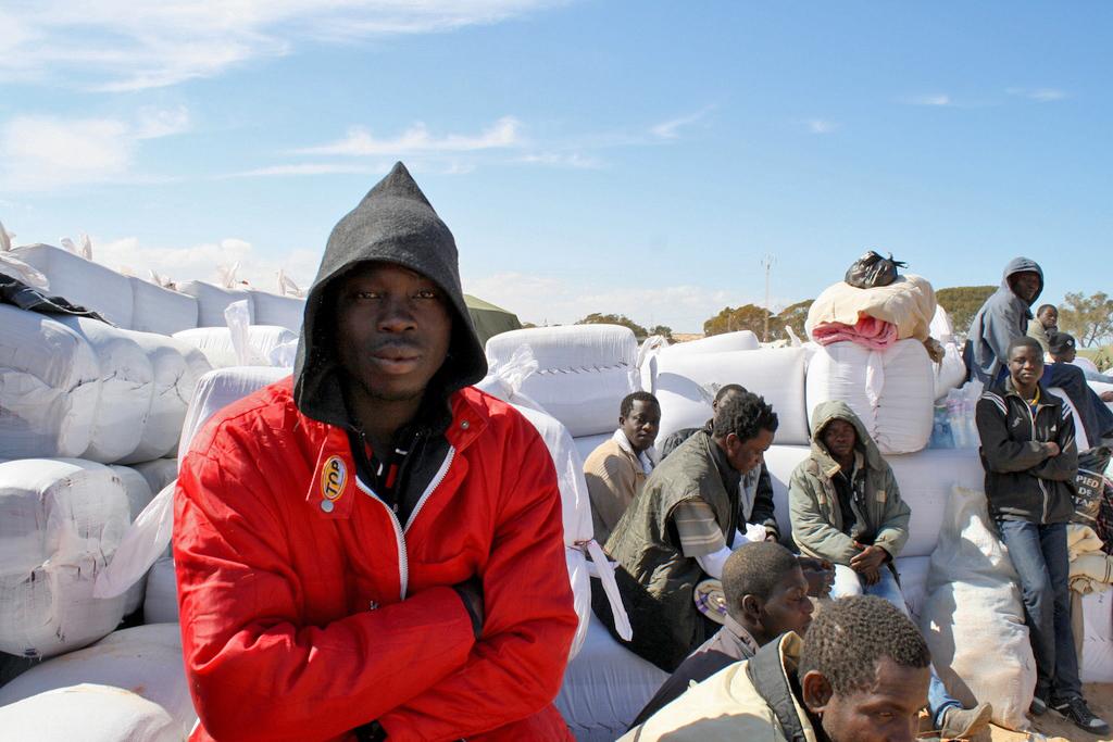 Migranti al confine tra Libia e Tunisia (Fonte OCHA)