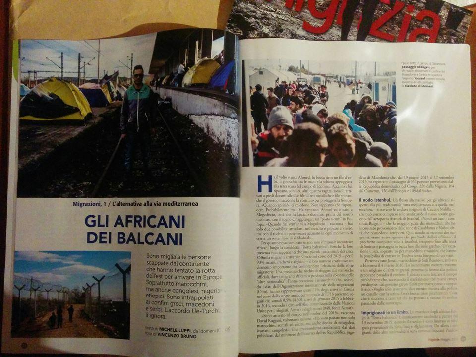 Il numero di Nigrizia di maggio con il reportage sugli africani della Rotta Balcanica
